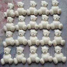 20 Edible Sugar Paste Teddy Bears Cake Cupcake Toppers Decorations AIRBRUSHED