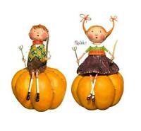 Peter & Prissy Pumpkin Eater Figurines Set of 2 by Lori Mitchell NEW