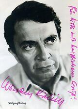 Wolfgang Kieling Schauspieler Original Autogramm Autogrammkarte Widmung