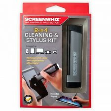 ScreenWhiz 2-in-1 Stylus Pen & Screen Cleaning Kit W/Bonus For iPhones and More