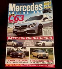 Mercedes Enthusiast April 2015 C63 C55 500SEC Buyers Guide FREE SHIPPING