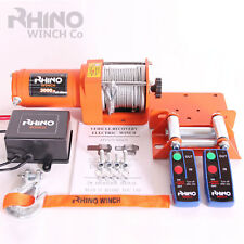 12v Electric Winch, 3000lb Heavy Duty, ATV, Trailer, Boat 4x4 Recovery ~ RHINO
