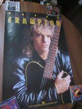 Peter Frampton 1986 Premonition Promo Poster Humble Pie
