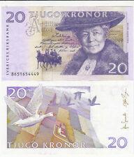 Billet banque SUEDE SWEDEN SVERIGES 20 K 2011 NEUF NEW UNC