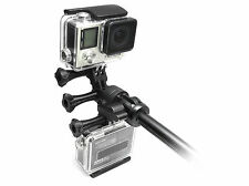 Dual Pivot Mount + Tripod  f. GoPro HERO 1-4 Session Zubehör Adapter Stativ
