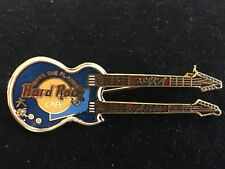 OSAKA BLUE DOUBLE NECK GUITAR JAPAN HARD ROCK CAFE PIN