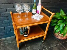 Mid Century Modern Teak Trolley / Side Table By staples