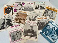 Vintage 1960's Sheet Music Lot Pop Rock Animals Zombies Beatles Dave Clark Five