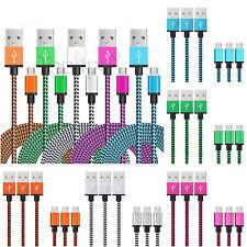 CHARGEUR MICRO USB CABLE USB UNIVERSEL ANDROID POUR PS4 METAL RENFORCÉ 1m 2m 3m
