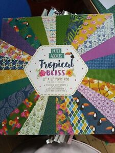 "Paper Addicts 12"" x 12"" Paper Pad - Tropical Bliss - 24 Sheets 200 gsm Cardstock"