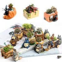 Studio Ghibli My Neighbor Totoro Figure Resin Bonsai Flower Pot Desktop Decor