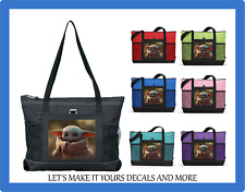 BABY YODA #8 CUSTOM TOTE PURSE SPORTS GYM SCHOOL OVERNIGHT BEACH DIAPER BAG