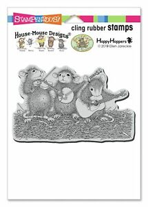 Stampendous House Mouse Cling Stamp-Band Of Mice
