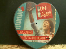 "CLIFF RICHARD  Shooting From The Heart 7"" single SHAPED PICTURE DISC    EX !!"