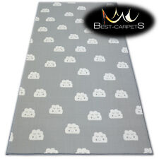 Anti-slip CHILDREN'S CARPET CLOUDS Grey Kids Play Area Bedroom Rug ANY SIZE