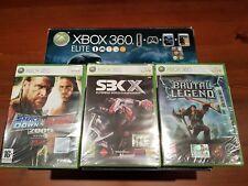 Console Microsoft Xbox 360 ELITE hard disk 120GB + BOX + 3 GAMES
