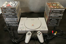 PLAYSTATION Bundle. PS1 + 24 GIOCHI LOTTO. ROAD Rash, Driver, Tomb Raider. PAL