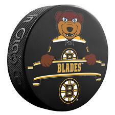 2016 Boston Bruins MASCOT Souvenir Hockey Puck BLADES - NHL Team Logo