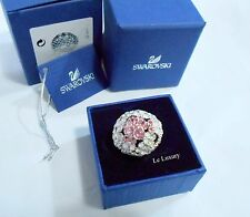 Swarovski Cherie Ring Size M/55 Flower, Pink Crystal Authentic MIB 5110990