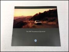 1987 Volkswagen Vw Quantum Original Car Sales Brochure Catalog Syncro