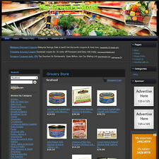 GROCERY STORE - Complete, Ready Made Affiliate Website - Amazon+Google+Dropship!