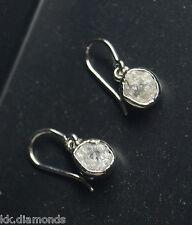 3.50 TCW Natural Raw Rough Gray diamond earring 925 silver Dangle Earring NR85