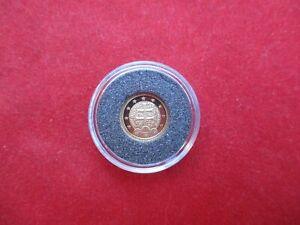 Cook Islands 1 Dollar 2007 Slowenien Doppelkreuz 999/1000 Gold Au PP proof 0,5 g