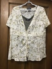 NEW WOMENS CB CASUAL PLUS  2 PC BLOUSE W/CAMI.   SIZE XL.