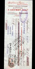 """ANGOULEME (16) Usine de PAPIER IMPRIMERIE """"A. DUPUY / F. VEYRET Succ"""" en 1930"""