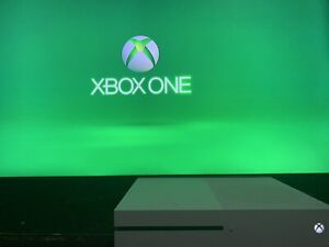 Microsoft Xbox One S 1TB Console - White, with power cord, no controller.
