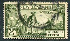 Nueva Zelanda KGV Verde Oliva 2s 1935-36 SG568c ex-álbum Usado