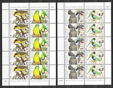 Australie 1998  VOGELS PAPEGAAIEN PARROTS 2 VELLETJES     postfris/mnh