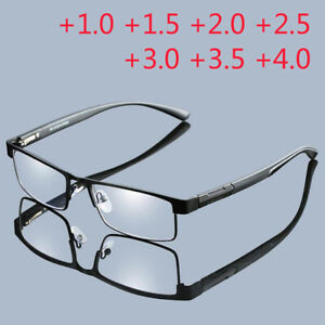 High Quality Men alloy Reading glasses reader 1.0 +1.5 +2.0 +2.5 +3.0 +3.5 +4.0