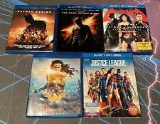 New listing Lot of 5 Dc Blu-rays Batman Begins Wonder Woman Justice League Dark Knight Rises