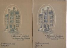 WOMAN'S INSTITUTE OF DOMESTIC ARTS 3 1920'S BROCHURES,SIMPLIFIED SEWING,ETC.
