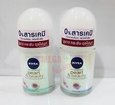 2x25ml NIVEA PEARL BEAUTY Roll On Smooth Beautiful Underarms 48h Anti-Perspirant