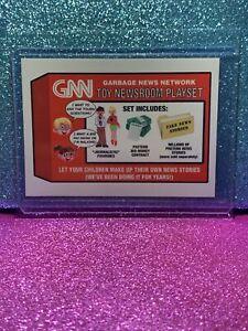 2017 Trumpocracy Gpk #82 GNN Toy Newsroom Playset Wacky Packages🔥 CNN Parody 🔥