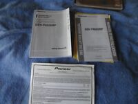 Pionner CD Player model DEH-P4600MP owners manual & installation manual only
