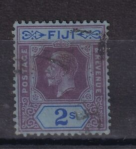 FIJI 1922 KGV 2s purple & blue VFU (0526)