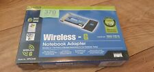 Cisco Linksys Wireless G Notebook Adapter - New, Sealed, Retail box (WPC54G-UK)