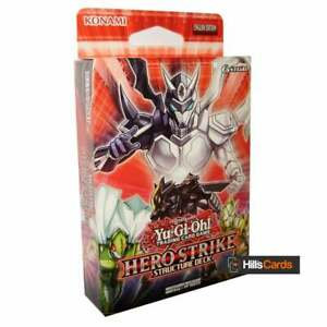 YuGiOh TCG Hero Strike Structure Deck SDHS Unlimited Edition Cards: New & Sealed