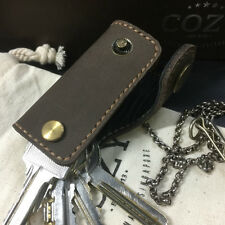Brown Nubuck Leather Key Holder, Holds Up to 6-7 Regular Keys