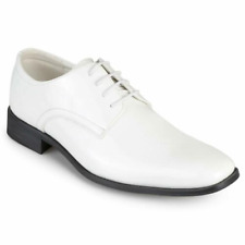 Vance Co. Mens Cole Dress Shoe Lace Up Dress Oxfords, White, Size 7 1/2 NIB