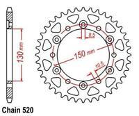 TMP Pignon Sortie de Boite Arrière 42-Dents (chaine520) HONDA SLR 650 1997-1998