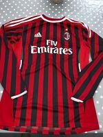 AC Milan Rare Long Sleeved Shirt Adidas Mens Football Size XL
