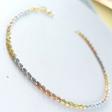 18 CARAT 18K 750/000 WHITE, RED AND YELLOW GOLD BRACELET  WOMAN Gr. 1,20