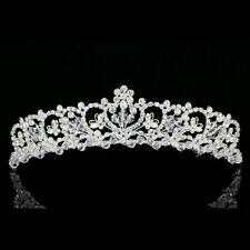 Handmade Bridal Floral Butterfly Rhinestone Crystal Wedding Crown Tiara 8933