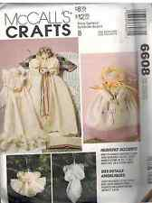 "6608 UNCUT Vintage McCalls SEWING Pattern Christmas Tree Angels Dolls 25"" Craft"