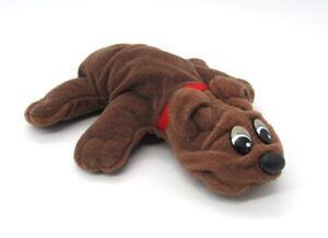 "Tonka Vintage Original Pound Puppy Solid Brown Puppy 9"" long"