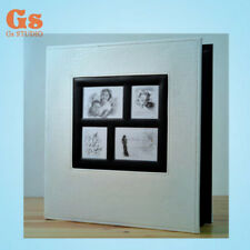 High-grade PU 6 inch 400 Pockets photo album for family (white)